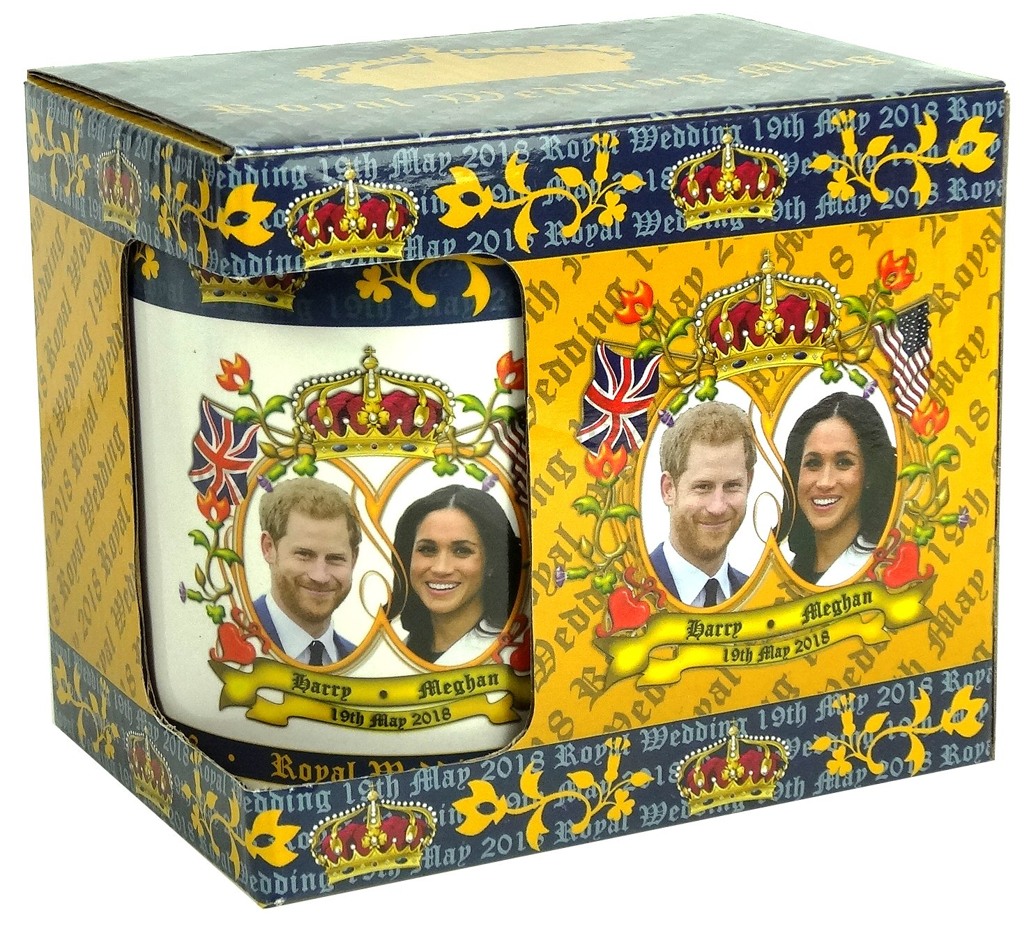 Amazon.com: Royal Wedding Tea Coffee Mug Prince Harry Meghan Markle May 19 2018: Kitchen & Dining