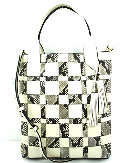 Michael Kors Vivian Large Woven Leather North South Tote - Ecru Natural   Amazon.ca  Shoes   Handbags 1e5250e5c7f97