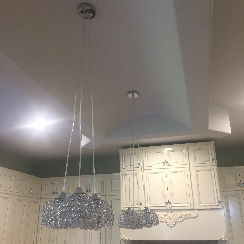 FixtureDisplays 3 Lights Ceiling Pendant Lighting Modern Chandelier for Restaurant Bar Kitchen Island Dining Room 15853