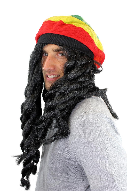 Carnaval, Peluca, y gorra Rasta, Jamaica, Reggae, Dreadlocks artificiales 68901: Amazon.es: Juguetes y juegos