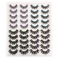 Ruairie False Eyelashes, Long Volume False Lashes Pack Fluffy Strip Eyelashes 4 Styles 20 Pairs
