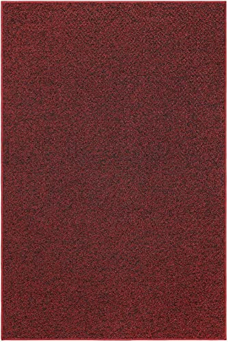 Outdoor Artificial Turf Burgundy Area Rugs with Premium Non Skid Backing Great for Decks, Patio s Gazebo s to Pools, Docks Boats and Other Outdoor Recreational Purposes 9 x12