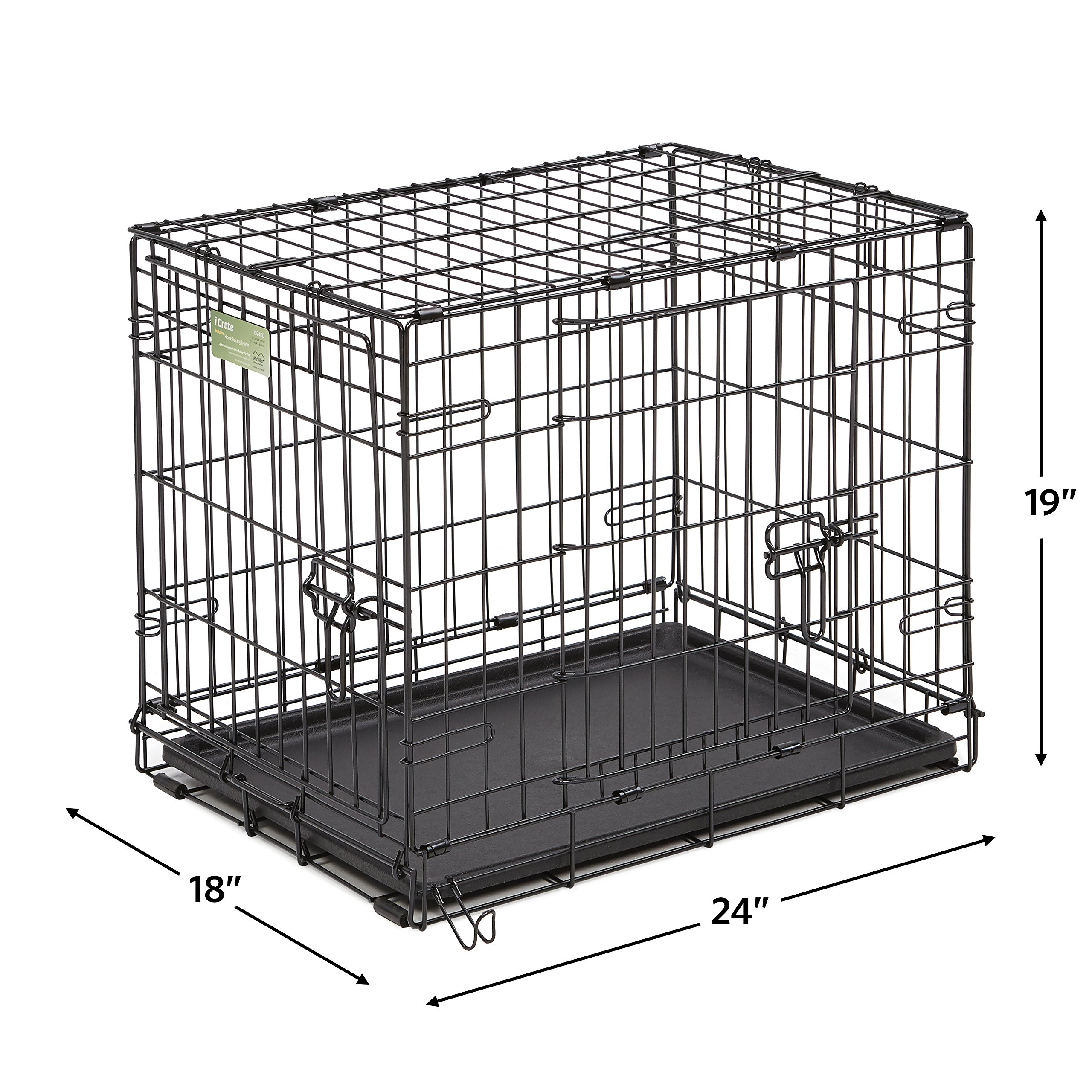 MidWest Homes for Pets Small Dog Crate Starter Kit | One 2-Door iCrate, Pet Bed, Crate Cover & 2 Pet Bowls | 24-Inch Ideal for Small Dog Breeds by MidWest Homes for Pets (Image #5)