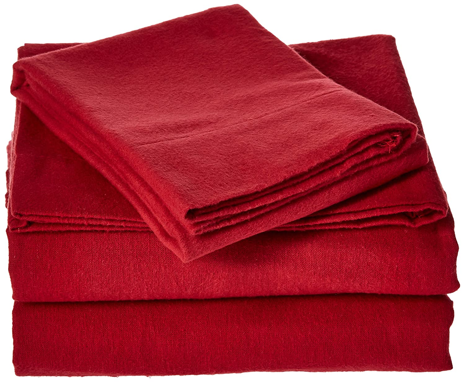 Brielle Cotton Flannel Sheet Set, Queen, Red