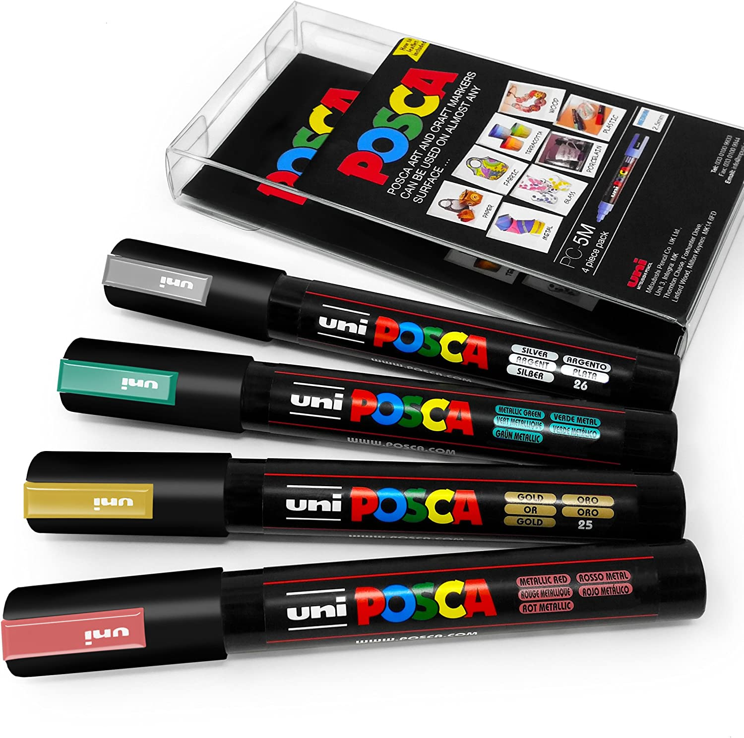Uni-ball Posca PC 3M Glitter Triple Pack