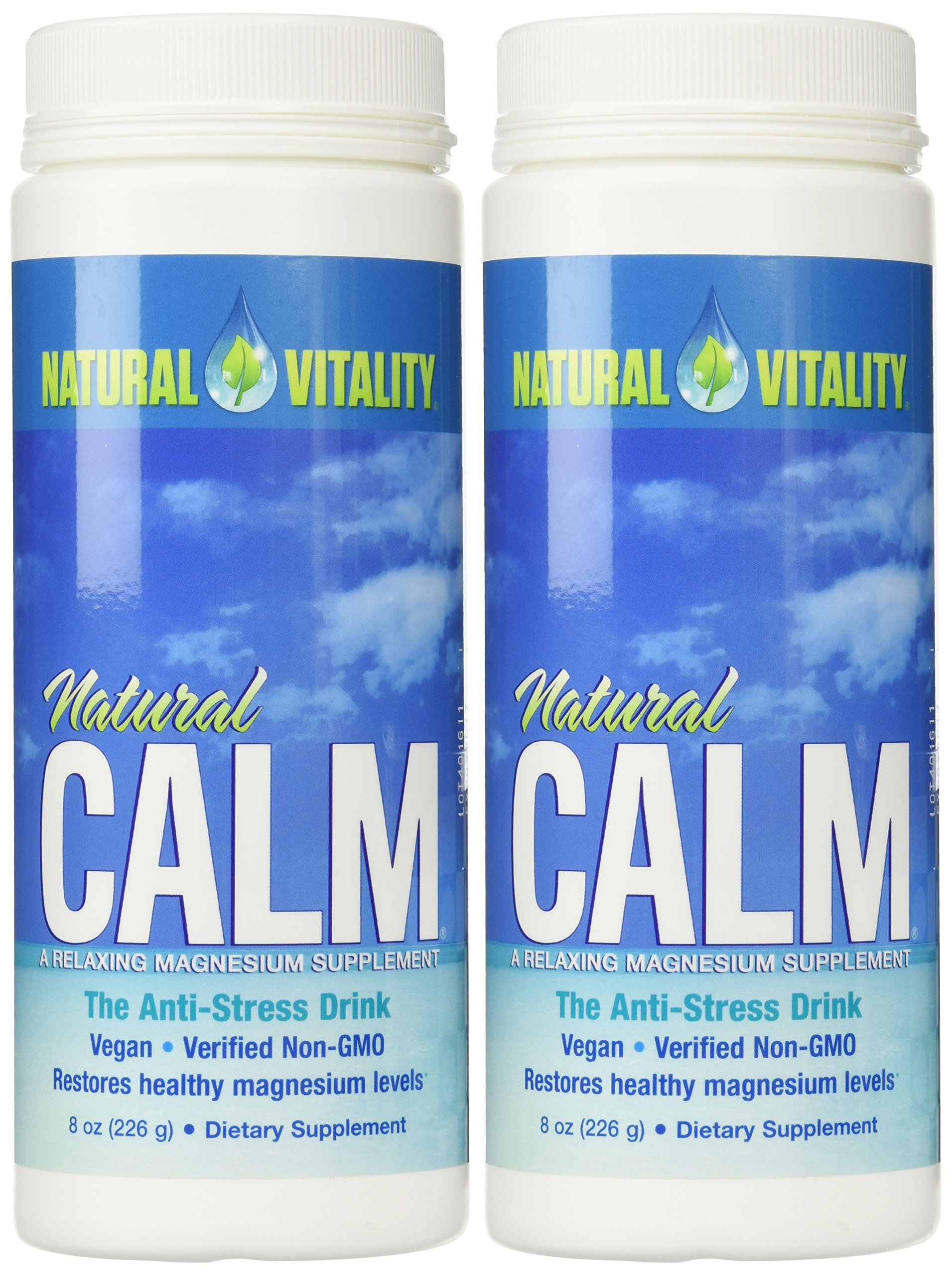 Natural Vitality Natural Magnesium Calm (2 Bottles of 8 Ounce) by Natural Vitality