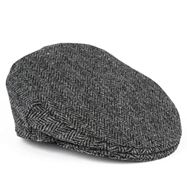 ae768f6248b British Made Authentic Harris Tweed Flat Cap (grey