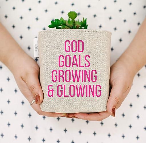Inspirational Home Decor. God Goals Growing U0026 Glowing. Positive Linen Desk  Basket. Home