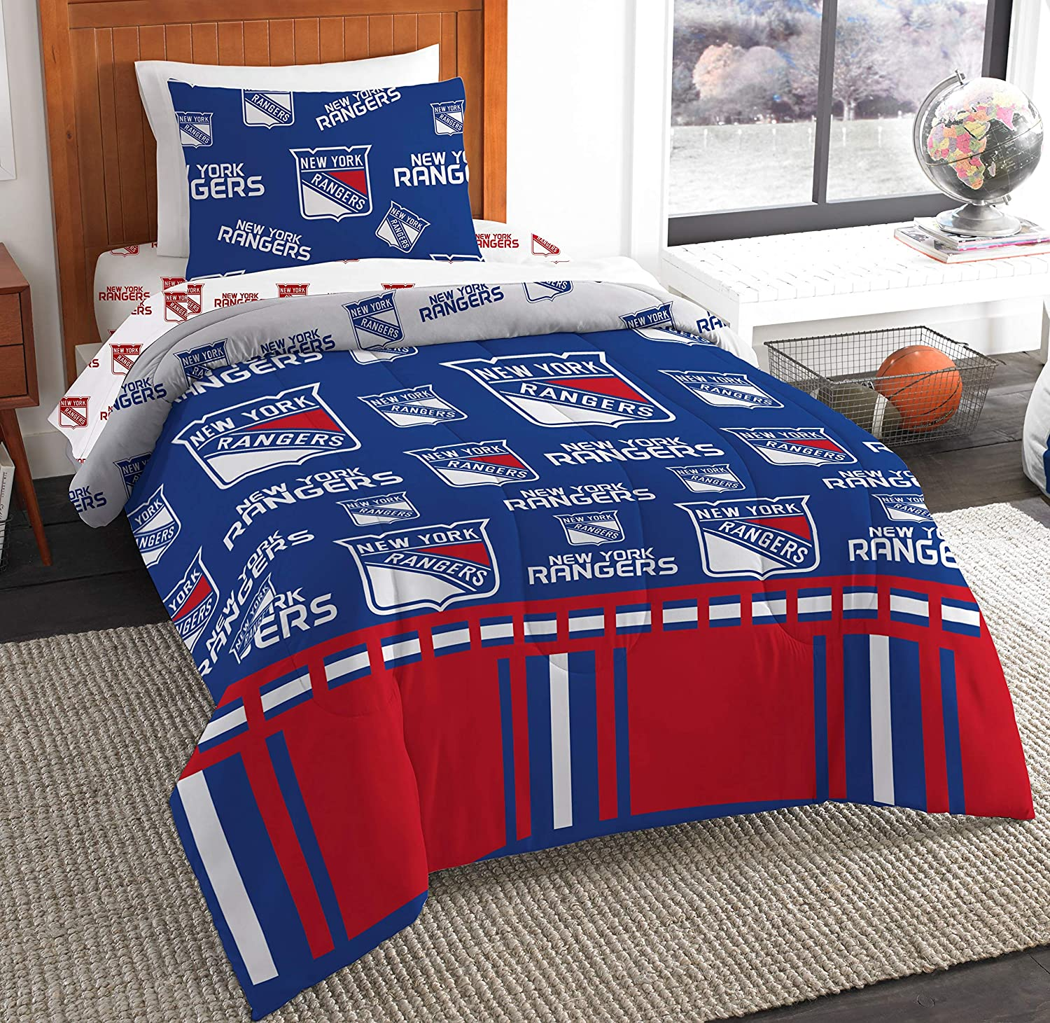 The Northwest Company NHL New York Rangers Twin Bed in a Bag Complete Bedding Set #537002474