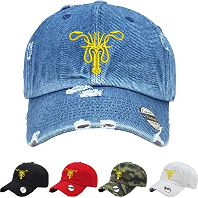Allntrends Adult Dad Hat House Greyjoy Dad Hat Embroidered Cool Cap (Black) 80d1463270f
