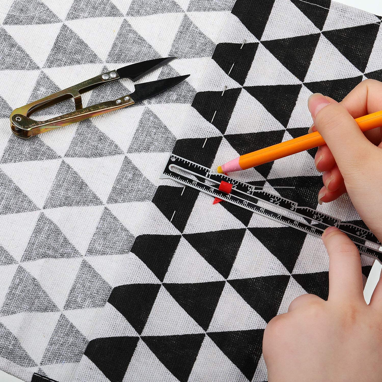 Comprenant Mesure de Jauge de Couture Ripper de Couture Cisailles /à Coudre et Crayons de Marquage de Tissu avec 6 Couleurs pour Couture Matelassage 9 Pi/èces Ensemble dOutils de Jauge de Couture