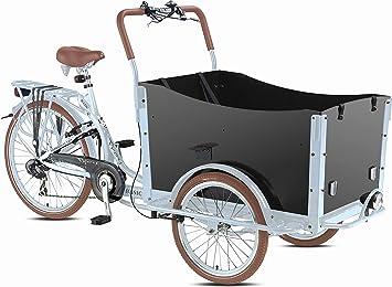 bakfiets cargas – Rueda transporte Last bicicleta 7 g Shimano 5sitz Rehabilitación Bike Triciclo Plata: Amazon.es: Deportes y aire libre