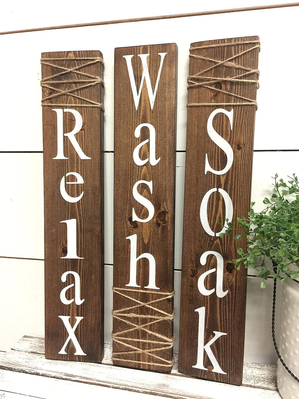 rustic bathroom signs
