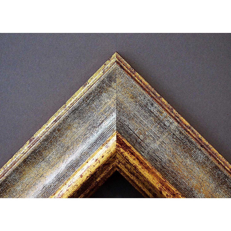 Artecentro Cornice Dorata per Quadri oro - oro Quadri Coloreee con o Senza passepartout in Legno-Varie Misure (oro Avorio, 50 x 60) 613088