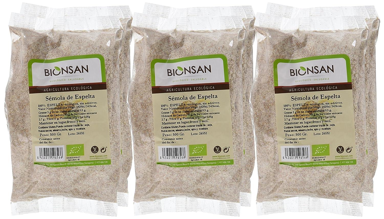 Bionsan Sémola de Espelta - 6 Paquetes de 500 gr - Total: 3000 gr: Amazon.es: Alimentación y bebidas