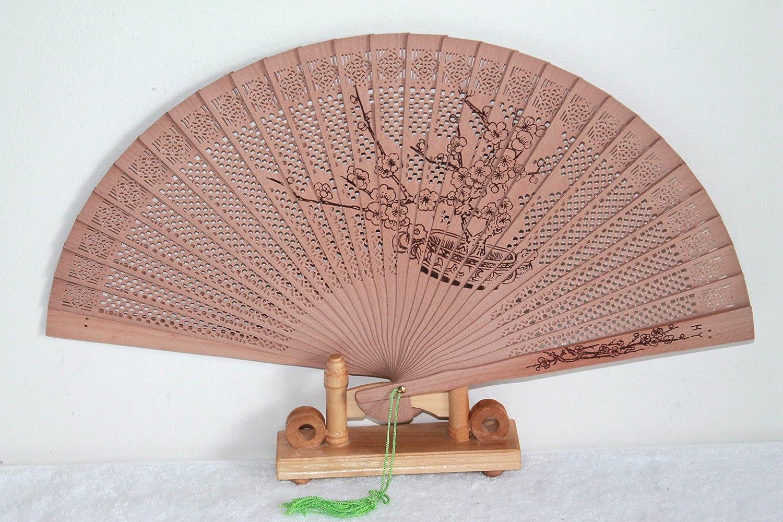 AAF Nommel ® Hand- Deko- Sommer- Sandelholz- Ornamente Fächer, Nr. 080 Asia Art Factory