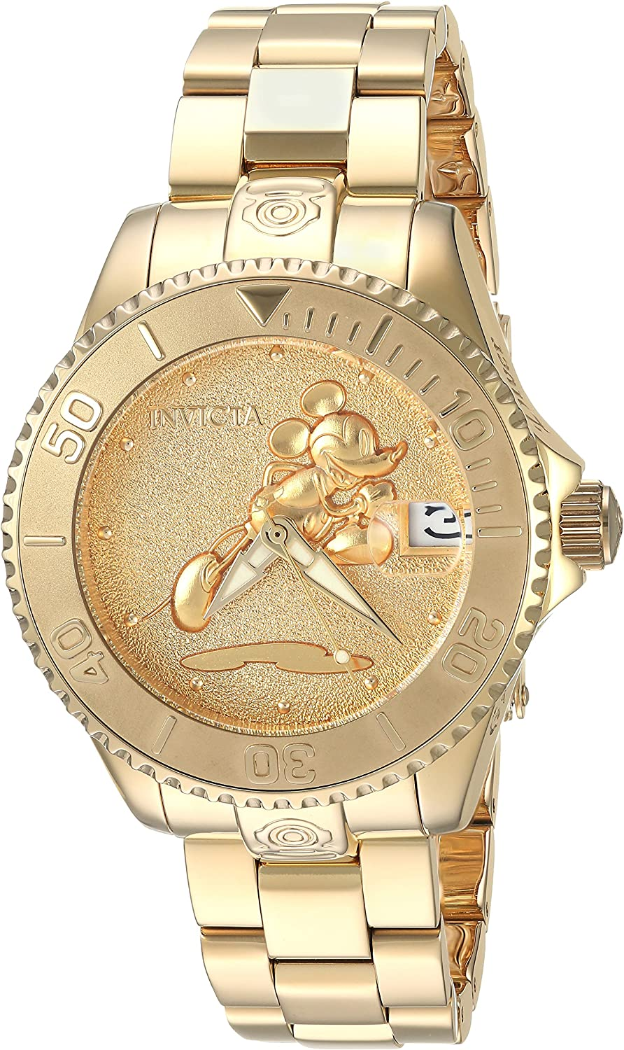 Invicta Women s Disney Limited Edition Automatic-self-Wind Watch with Stainless-Steel Strap, Gold, 18 Model 24533