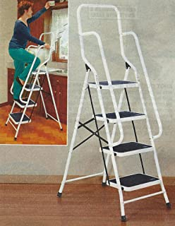 62.5  Four Step Steel Safety Ladder With Handrails : step stool with rails - islam-shia.org