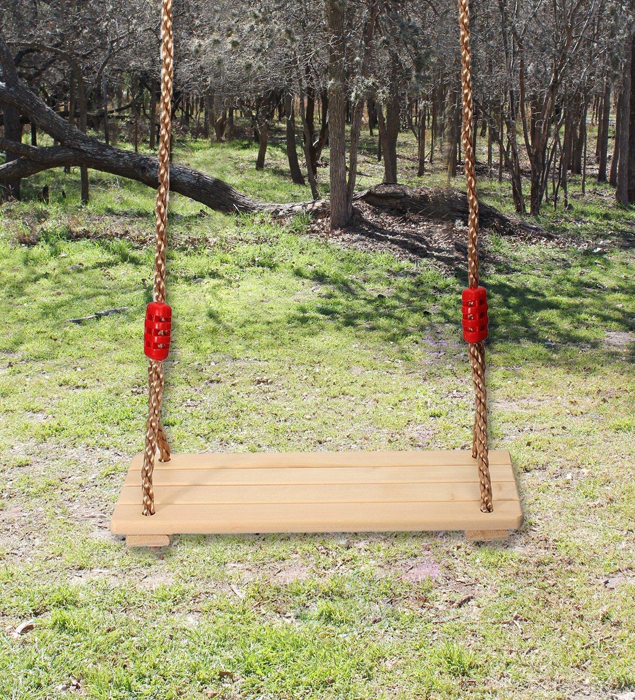 Extsud Outdoor Indoor Rainproof Wooden Swing Seat for ...