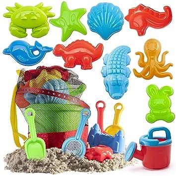 Amazon.com: Kit de juguetes de playa en bolsa reutilizable ...