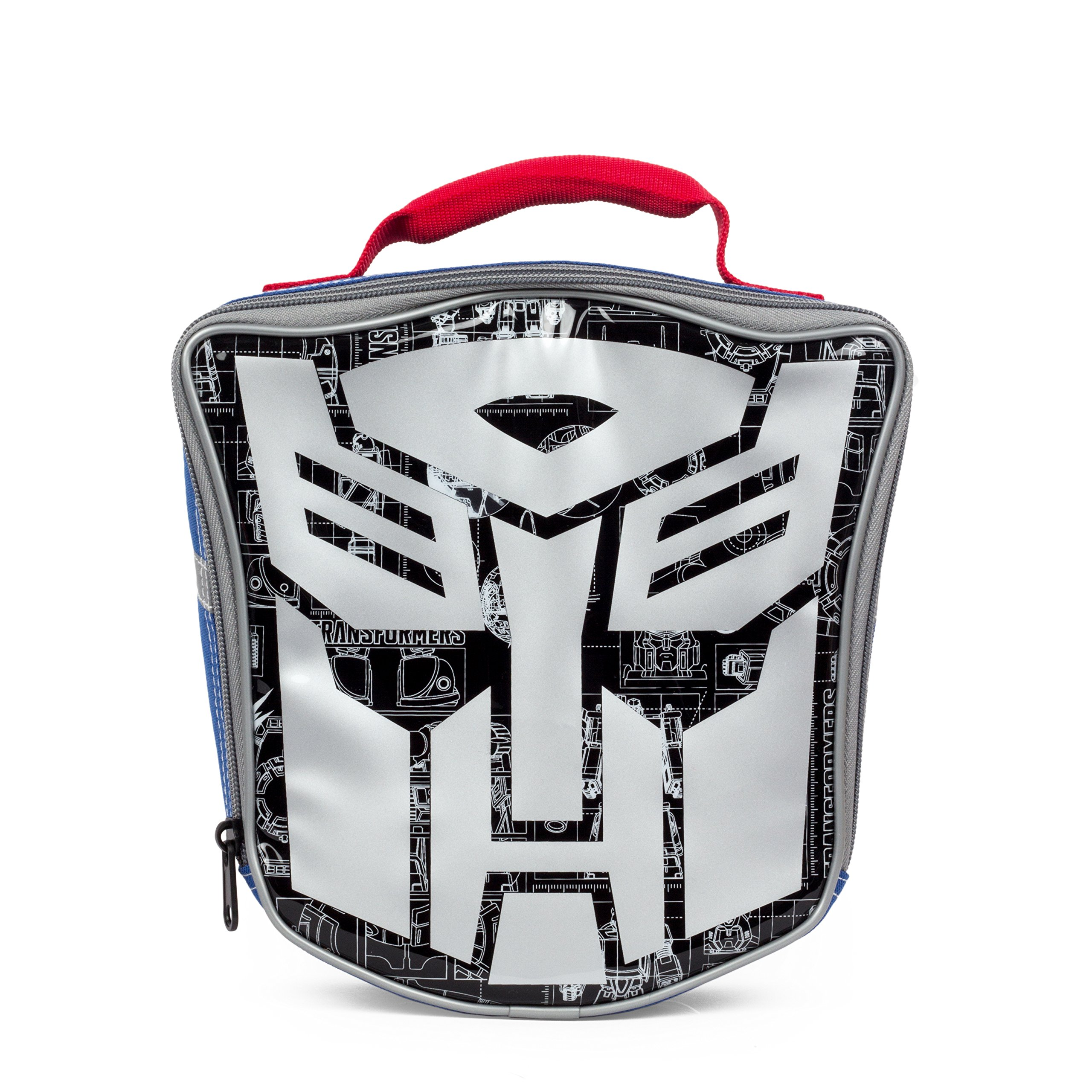 Transformers Die Cut Silver Face Insulated Lunch Kit