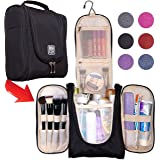 Premium Hanging Travel Toiletry Bag for Women and Men | Hygiene Bag | Bathroom and Shower Organizer Kit with Elastic Band Holders for Toiletries, Cosmetics, Makeup, Brushes