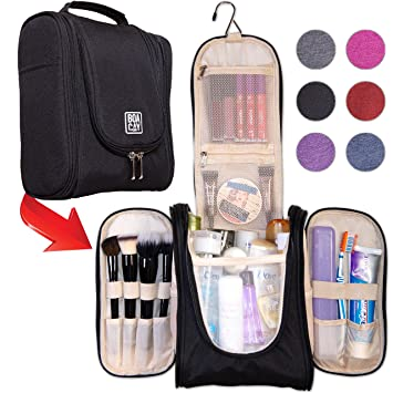 3d207fb99854 Amazon.com   Premium Hanging Travel Toiletry Bag for Women and Men ...