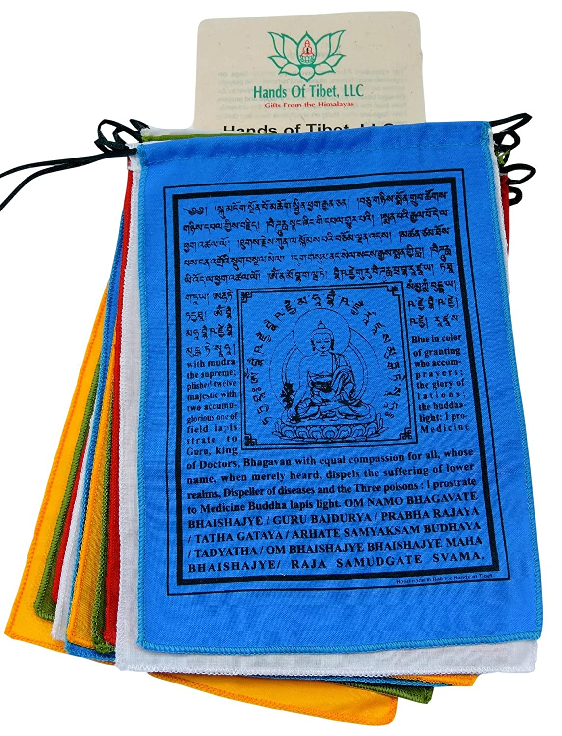 Handmade Medicine Buddha prayer flags Tibetan with English Translation  (6
