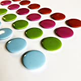 GoodHangups Colorful Round Magnets 25 x 25 mm Pieces Multi Use For Fridge Door Whiteboard Magnetic Screen Door Bulletin Boards Refrigerators Multiple Colors 24 pcs