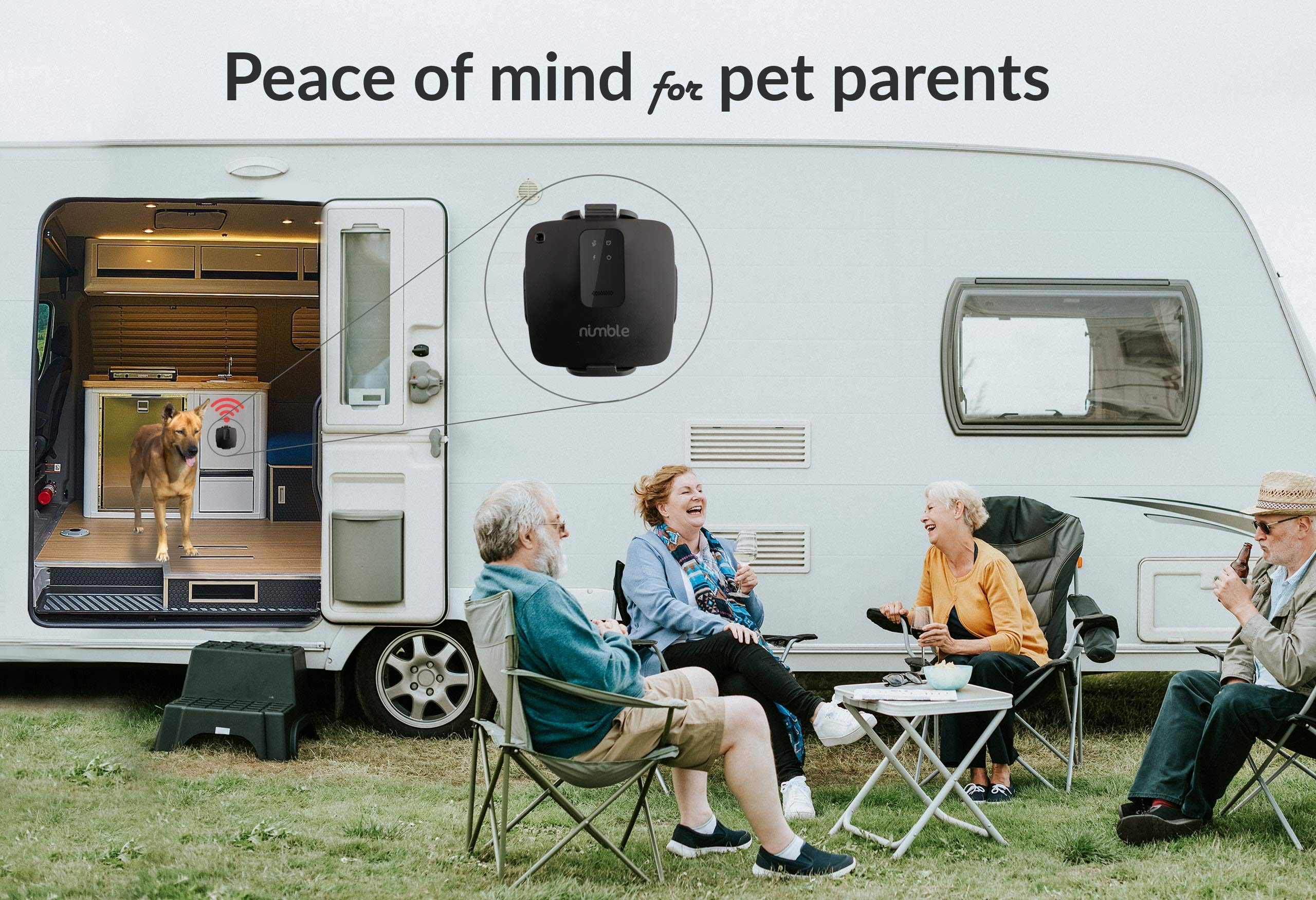 RV PetSafety Pet Environment Temperature monitor - No WiFi needed - works on 3G AT&T / T-mobile Cellular networks. Monitor pet's environment temperature in real time 24x7 by Nimble Wireless (Image #2)