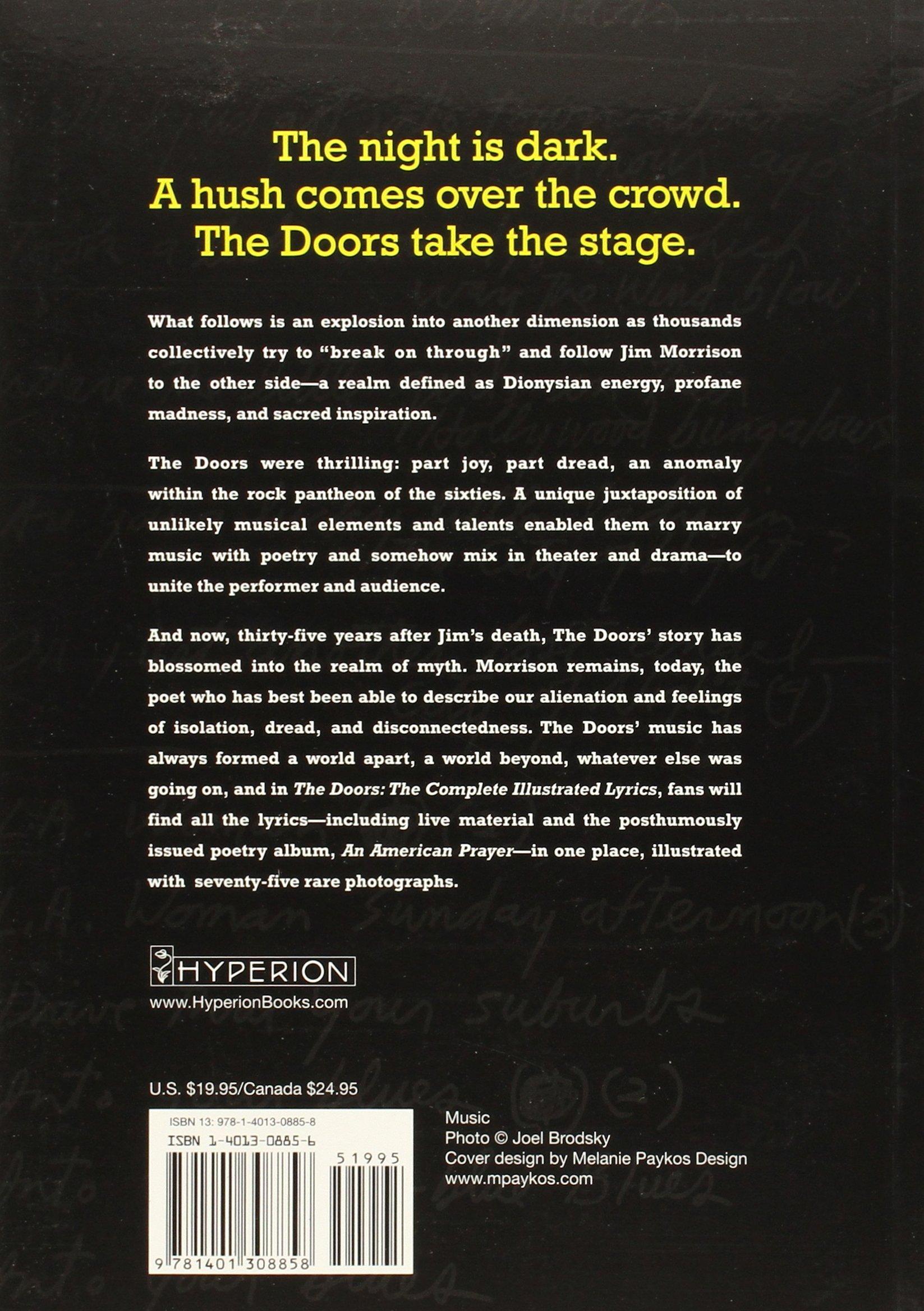 Amazon.com The Doors The Complete Illustrated Lyrics (9781401308858) Danny Sugarman Books  sc 1 st  Amazon.com & Amazon.com: The Doors: The Complete Illustrated Lyrics ...