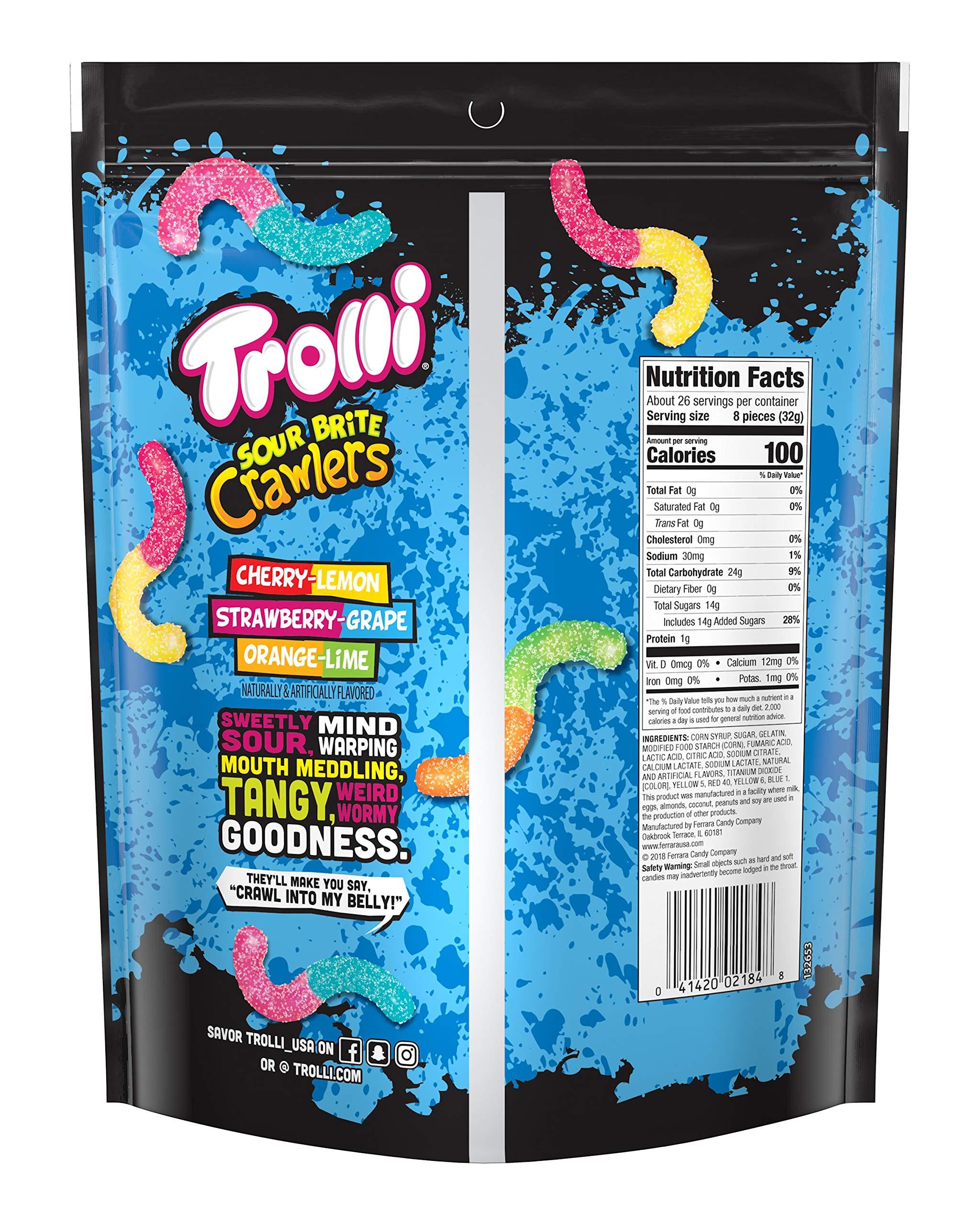 Trolli Sour Brite Crawlers Gummy Worms, 28 Ounce Bag Sour Gummy Worms by Trolli (Image #2)