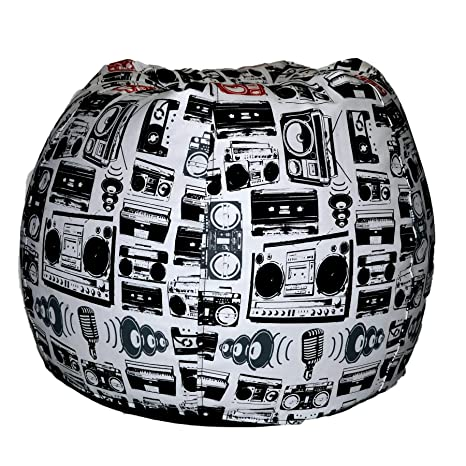 Comfy Bean Bags Printed XXXL Bean Bag without Fillers Cover (Multi-Color)