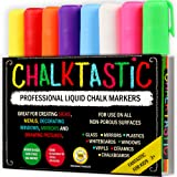 Chalk Markers by Fantastic ChalkTastic Liquid Pens Best for Kids Art Chalkboard Labels Menu Board Bistro Boards - Glass Window Markers - non-toxic Erasable - 6mm Chisel - Fine Tip Neon Colors plus White