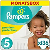 Pampers Premium Protection Windeln, Gr. 5 Junior (11-23 kg), Monatsbox, 1er Pack (1 x 136 Stück)