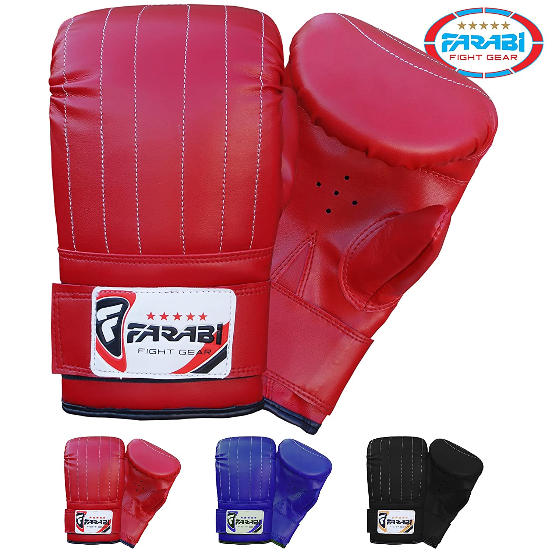 Farabi Boxing Bag Mitt MMA Muay Thai Kickboxing Fitness Training Gym Punching Bag Mitts Gloves