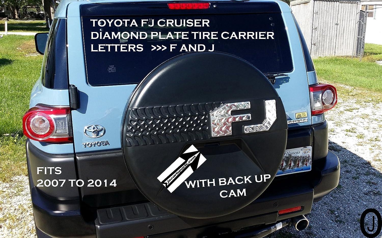Toyota FJクルーザーダイヤモンドプレート文字F J 2007 – 14 with Back Up Cam B01MQHO4WQ