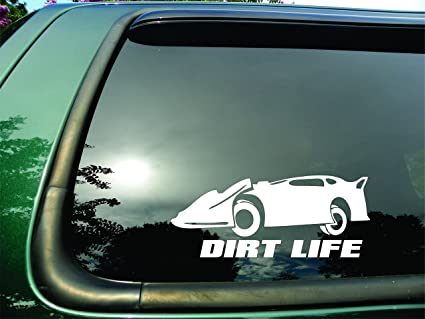 Dirt Life Late Model - Die Cut Vinyl Window Decal/sticker for Car or Truck  3 5