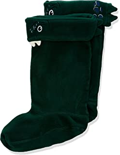 Joules Boys Smile Character Welly Liners in GREEN DINOSAUR