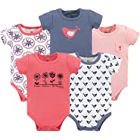 Yoga Sprout Baby Cotton Bodysuit, 5 Pack