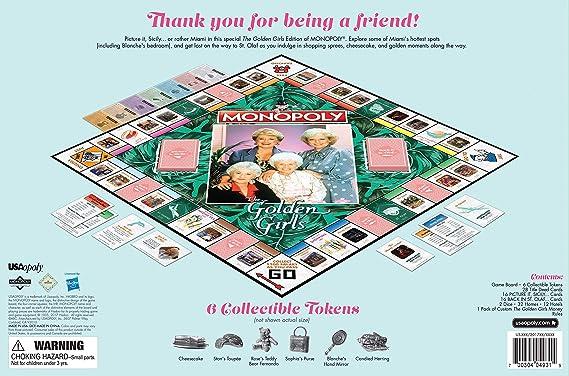 Monopoly The Golden Girls Edition Juego De Mesa: Amazon.es: Juguetes y juegos