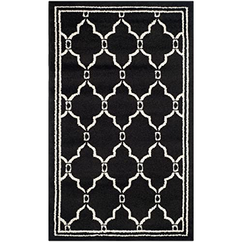 Safavieh Amherst Collection AMT414G Geometric Area Rug, 3 x 5 , Anthracite Ivory