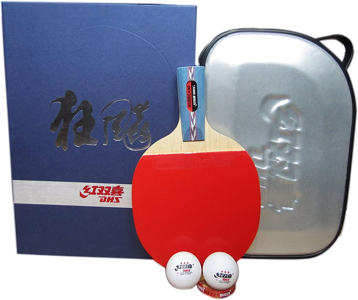 DHS HURRICANE-II Tournament Table Tennis Racket (Shakehand), Pingpong Racquets by DHS