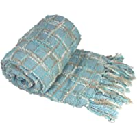 BNF Home Multi-Color Chenille Couch Throw Blanket, (50x60)