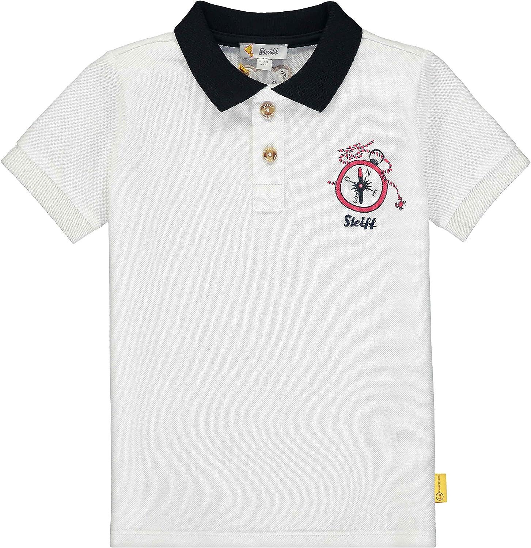 Wei/ß Steiff Jungen Poloshirt 122 Herstellergr/ö/ße:098