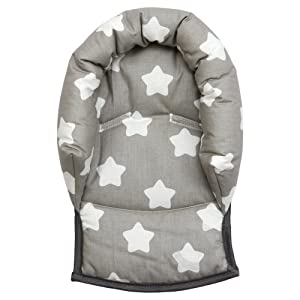 UNIVERSAL Infant  Baby  Toddler car seat , stroller head support pillow (Soft Cotton) (Star/grey)