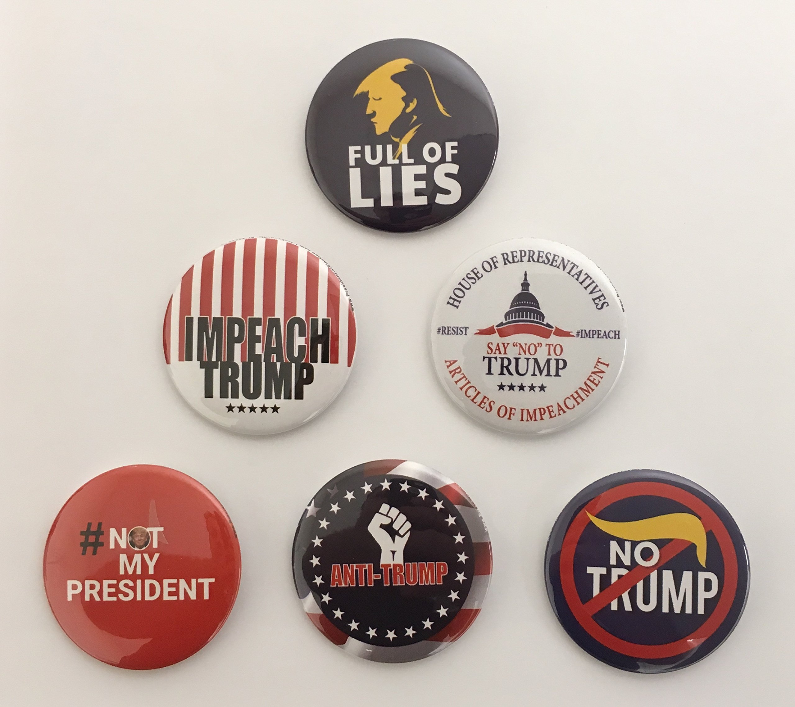 Complete-Set-Anti-Trump-Campaign-Button-Set-of-6-NOTRUMP-ALL