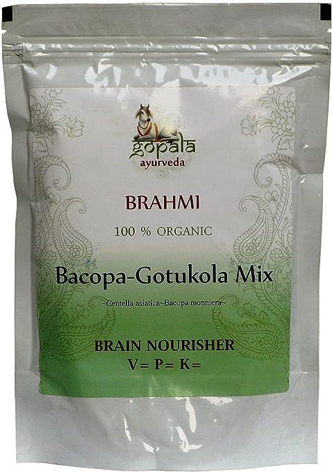Brahimi ecológico en polvo, Centella Asiatica y Bacopa Monniera, Certificado ecológico por LACON GmbH