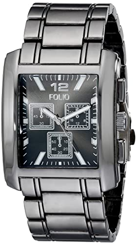 Folio FMDMSG015 - Reloj de pulsera hombre, Aleación, color Plata: Amazon.es: Relojes