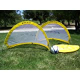 """Pass """"Footer Pop up/Fold-able & Portable Soccer Football Nets. (Pair). Comes with Carry Case, One Year Warranty."""